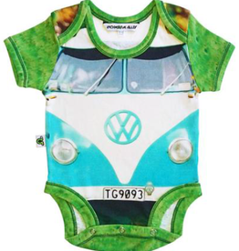 Inchworm Alley Inchworm Alley - Hippie Van Short Sleeve Onesie