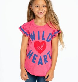 Chaser Chaser - Pink Wild At Heart Vintage Tee