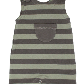 L'oved Baby L'oved Baby - Sleeveless Romper Seafoam/Grey Stripe