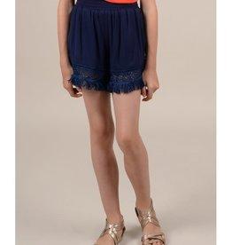 Mini Molly Mini Molly - Black Shorts w Lace Trim