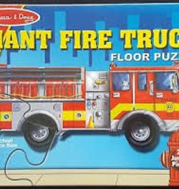 Melissa & Doug M&D - Fire Engine Giant Floor Puzzle 24 pc