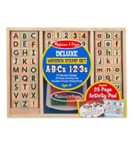 Melissa & Doug M&D - Deluxe Wooden Stamp Set - ABC 123