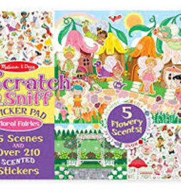 Melissa & Doug M&D - Scratch & Sniff Sticker Pad - Floral Fairies
