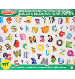 Melissa & Doug M&D - Sticker Pad - Alphabet & Numbers - 1000pcs