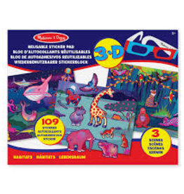 Melissa & Doug M&D - Reusable 3D Sticker Pad - Habitats
