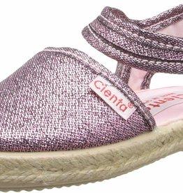 Cienta Cienta - Pink Metallic Canvas Sling Back Sandal
