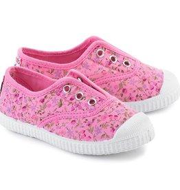 Cienta Cienta - Pink Floral Slip On Shoe