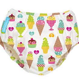 Charlie Banana Charlie Banana - White Ice Cream Swim Diaper