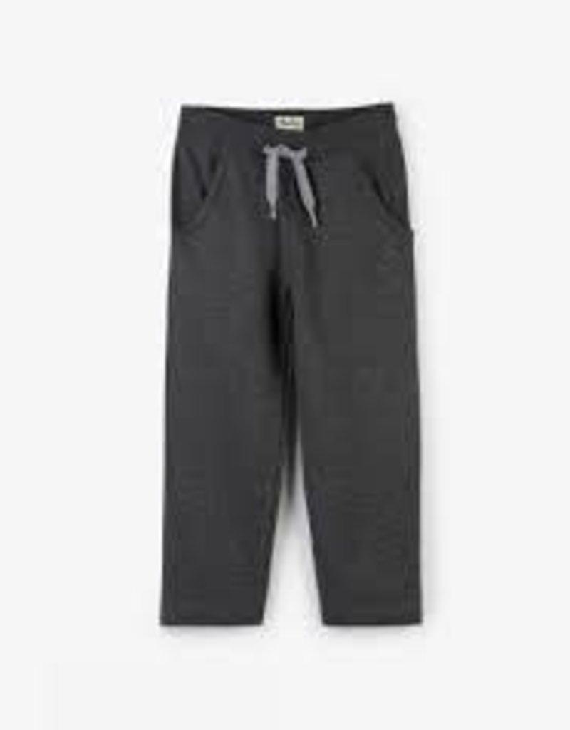 Hatley Hatley - Charcoal Fleece Pleated Track Pant