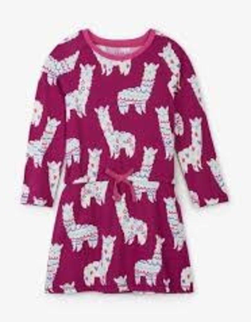 Hatley Hatley - Plum Adorable Alpacas Dress