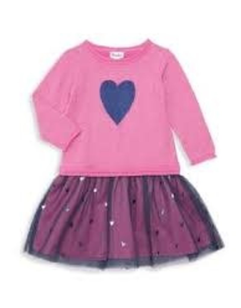 Hatley Hatley - Pink Shimmer Heart Dress