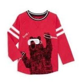 Hatley Hatley - Red Ski Bear Raglan Tee