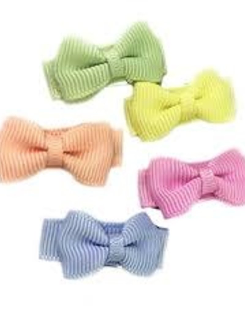 Babywisp Babywisp - Small Snap Tux Bows 5 Pack - Flower Fields