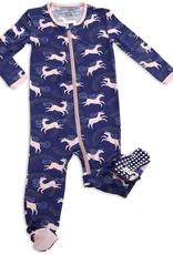 Silkberry Baby Silkberry Baby - Stardust Unicorn Print Bamboo Footed Sleeper w/ Zipper