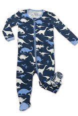 Silkberry Baby Silkberry Baby - Dino Kingdom Print Bamboo Footed Sleeper w/ Zipper