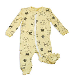 Silkberry Baby Silkberry Baby - Mouse Print Bamboo Printed Footie