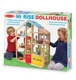 Melissa & Doug M&D - Wooden Hi Rise Doll House