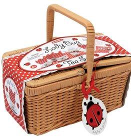 Schylling Ladybug Tea Set in Basket