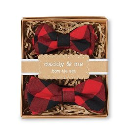 mudpie Buffalo Check Bow Tie Daddy & Me Set