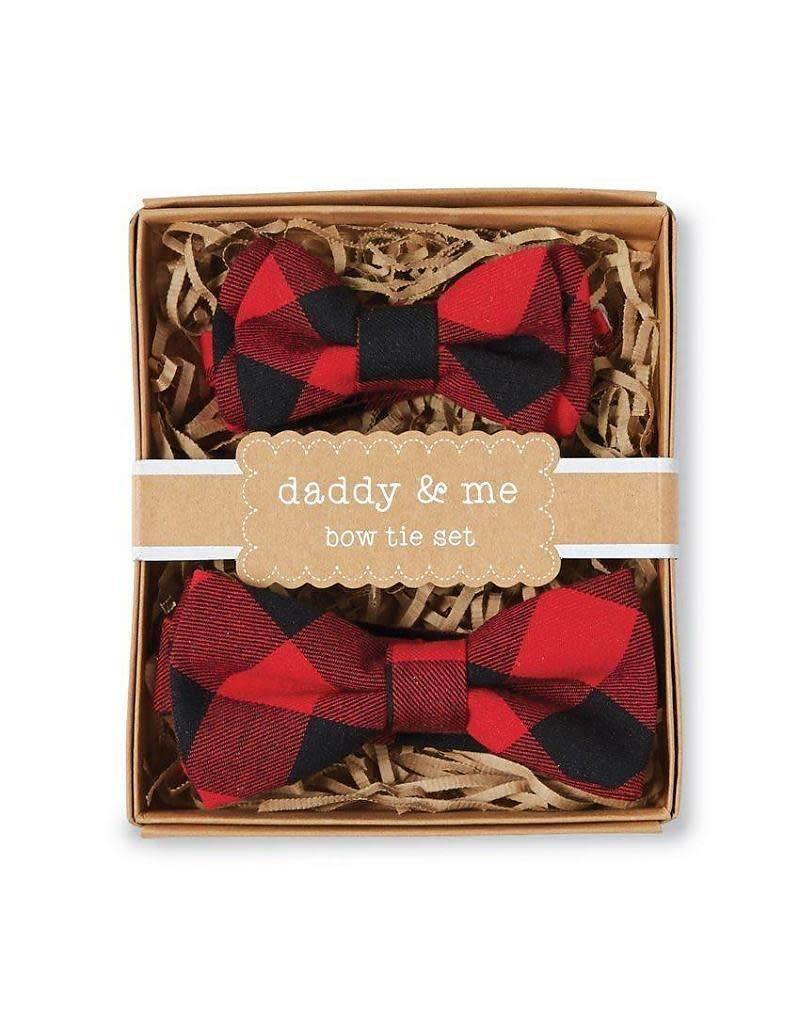 mudpie Buffalo Check Bow Tie Daddy & Me Set