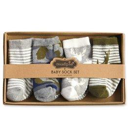 mudpie Camo Baby Sock Set (0-12m) 4pc