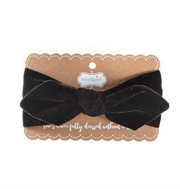 mudpie Alpine Village Headband Bow - Black Velour