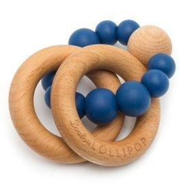 LouLou Lollipop loulou LOLLIPOP - Sapphirre Blue Bubble Wood & Silicone Teether