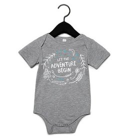 Portage & Main Portage & Main - Let the Adventure Begin Bodysuit - Blue