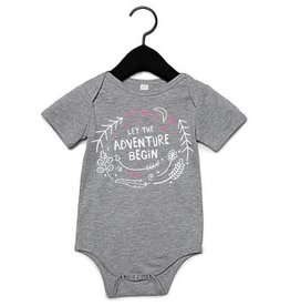 Portage & Main Portage & Main - Let the Adventure Begin Bodysuit - Pink