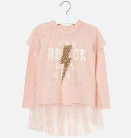 Mayoral Mayoral - Pink Rock Tunic w Overlay