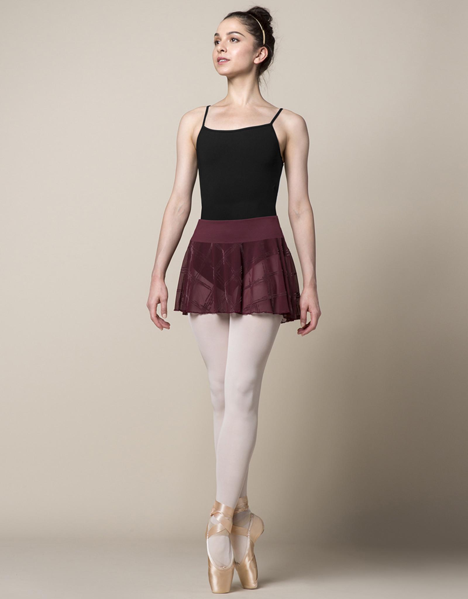 Mirella Mirella Chequered Mesh Wideband Skirt - MS154