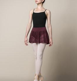 Mirella Mirella Chequered Mesh Wideband Skirt