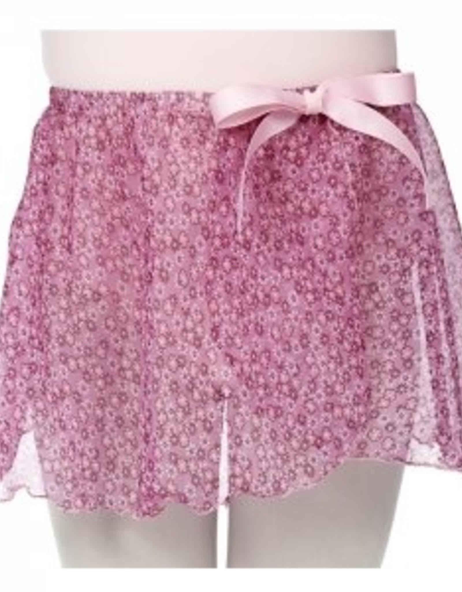 Dasha Designs Girls Pink Ditsy Floral Mock Wrap - 4465