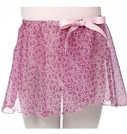 Dasha Designs Girls Pink Ditsy Floral Mock Wrap - 4465