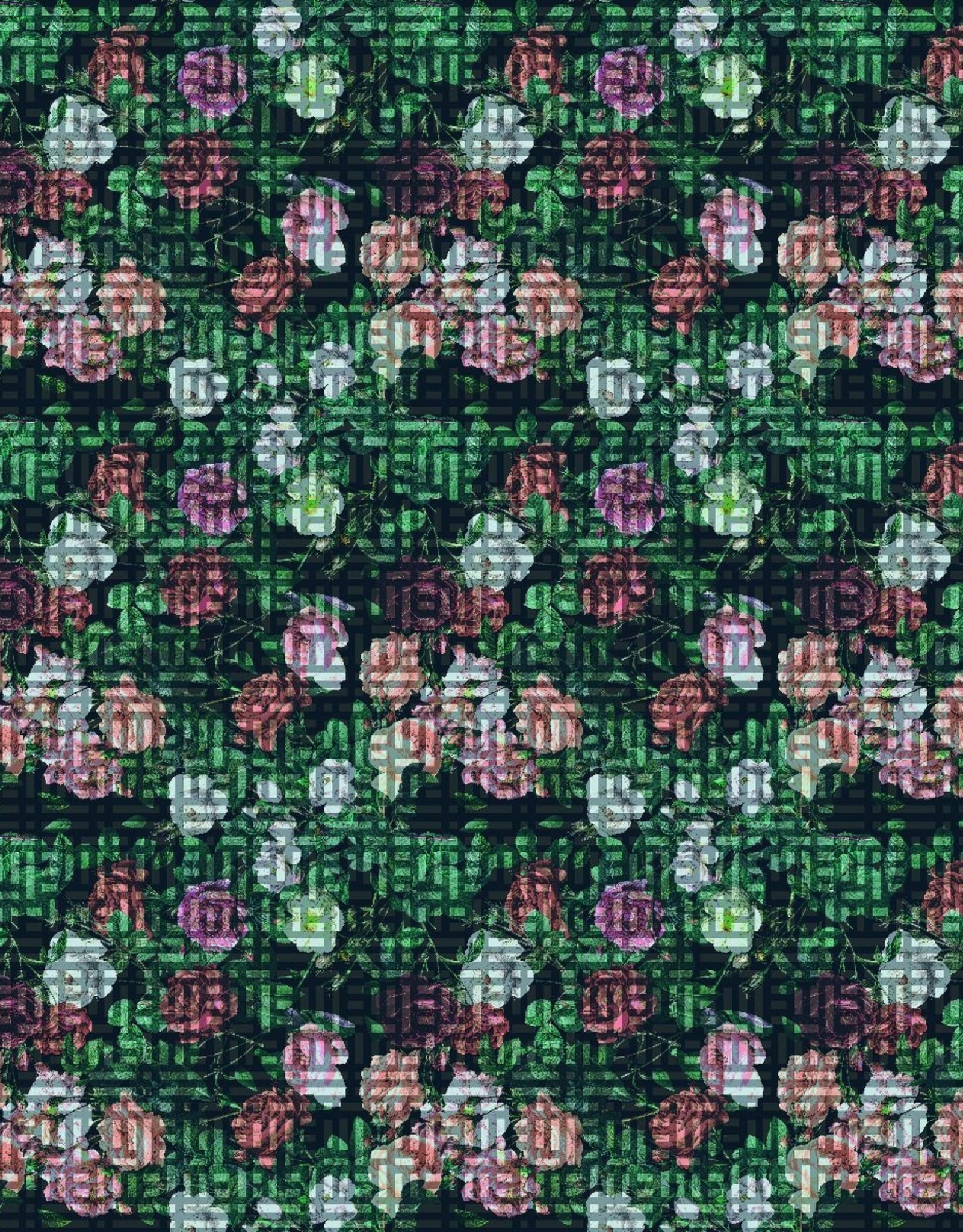 So Danca So Danca Patterned Mesh Wrap Skirt - PL2054