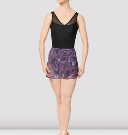 Bloch Bloch Printed Mesh Wrap Skirt - MS157