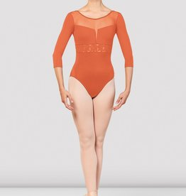 Bloch Bloch Emb 3/4 Sleeve Low Back Leotard - L5516