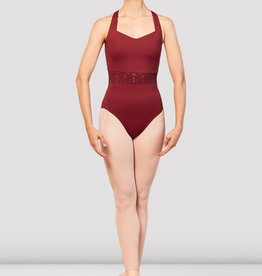 Bloch Bloch Emb Trim V Neck Open Back Leo - L2965