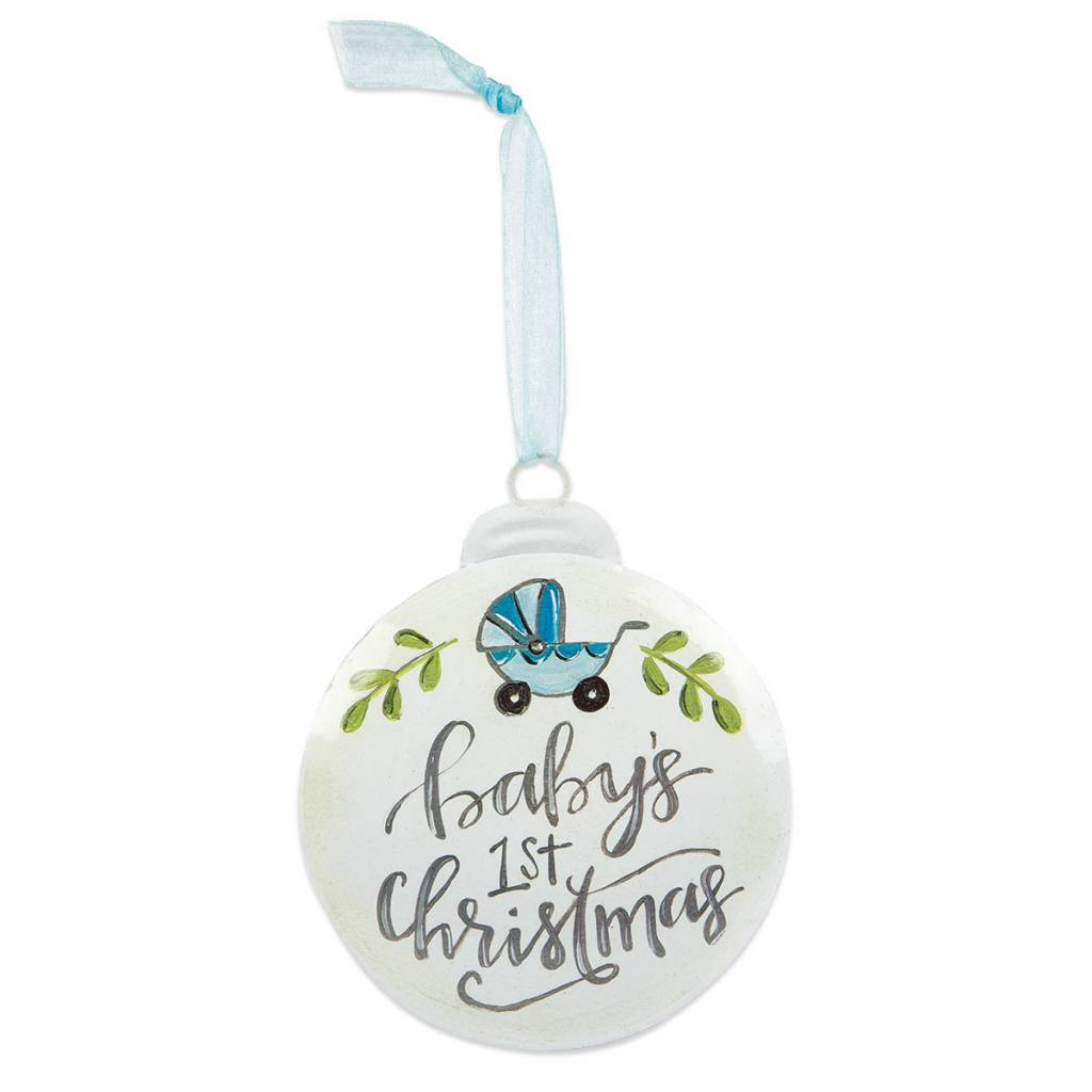 Baby Boys 1st Christmas Disk Ornament