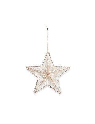 Glittered Jute Star Ornament