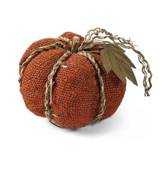 Orange Burlap Pumpkin