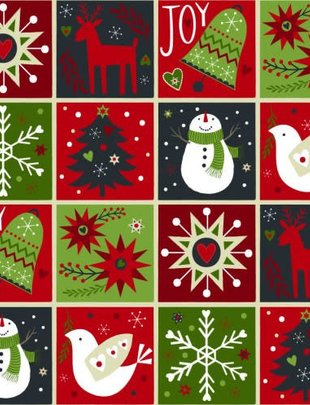 Joy Christmas Cocktail Napkins