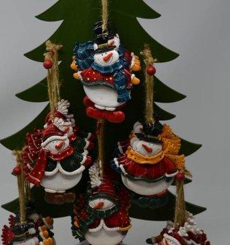 Resin Snowman Ornament (6 Styles)