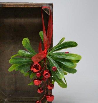 Jingle Bell Mistletoe Drop Ornament