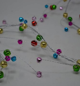 5-Ft. Multicolor Mini Jingle Bell Garland