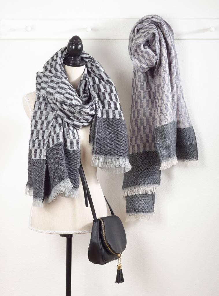 Denim & Gray Mix Scarf