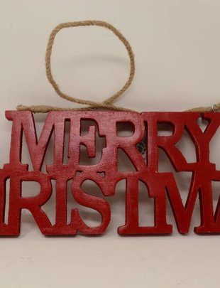 Red Merry Christmas Letter Sign
