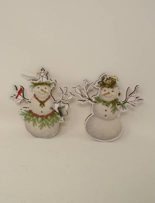 Wooden Snowman Ornament (2 Styles)
