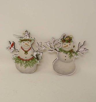 Wooden Snowman Ornament (2 Styles)