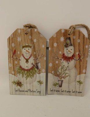 Glitter Snowman Tag Ornament (2 Styles)
